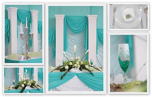 Tischdeko Hochzeit Blau / Türkis / Aquamarin