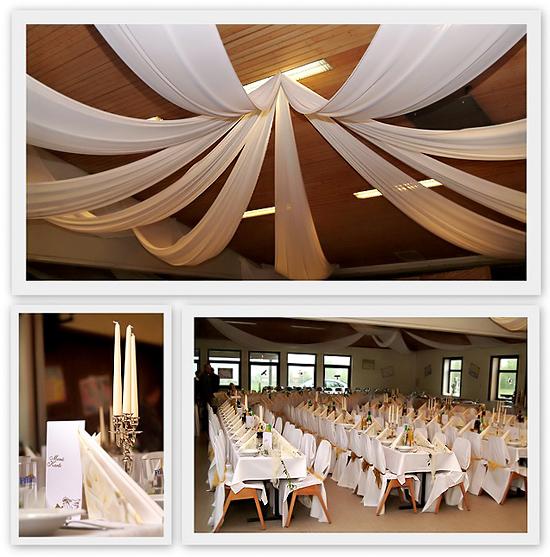 Tischdeko Hochzeit Deckendeko