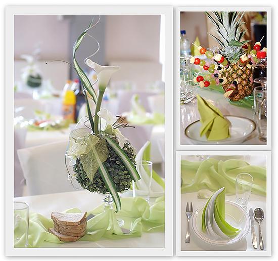 Tischdeko Hochzeit Grün