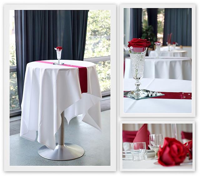 Tischdeko Hochzeit Rot-Bordeaux