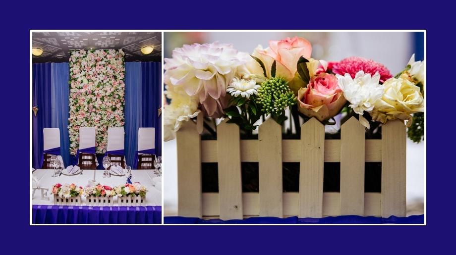 Blumenschmuck Hochzeit Tisch