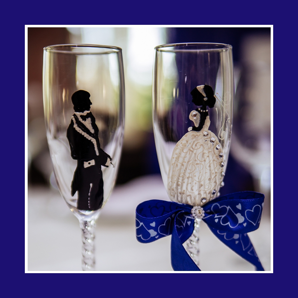 Deko Sektglaeser Hochzeit braut brautigam