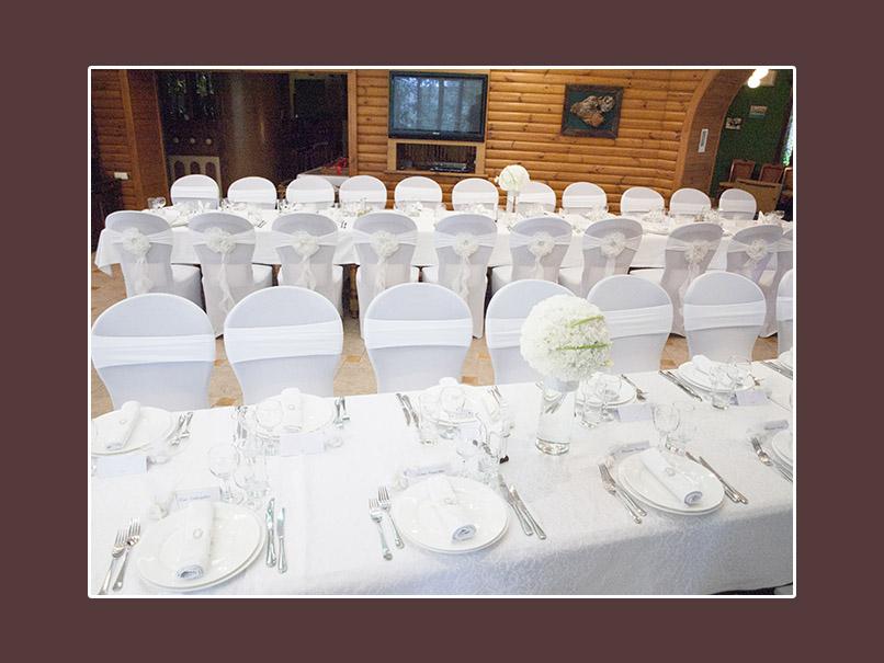 Hochzeitsdeko Tisch weiss klassisch 1