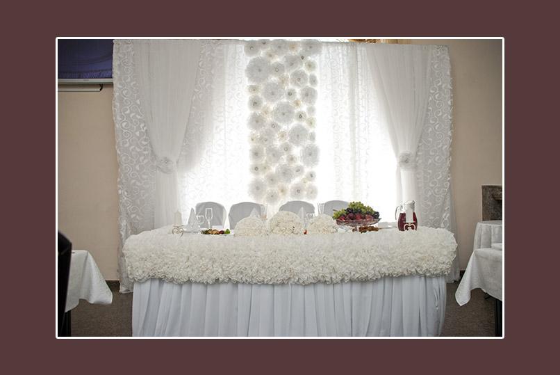 Hochzeitsdekoration weiss