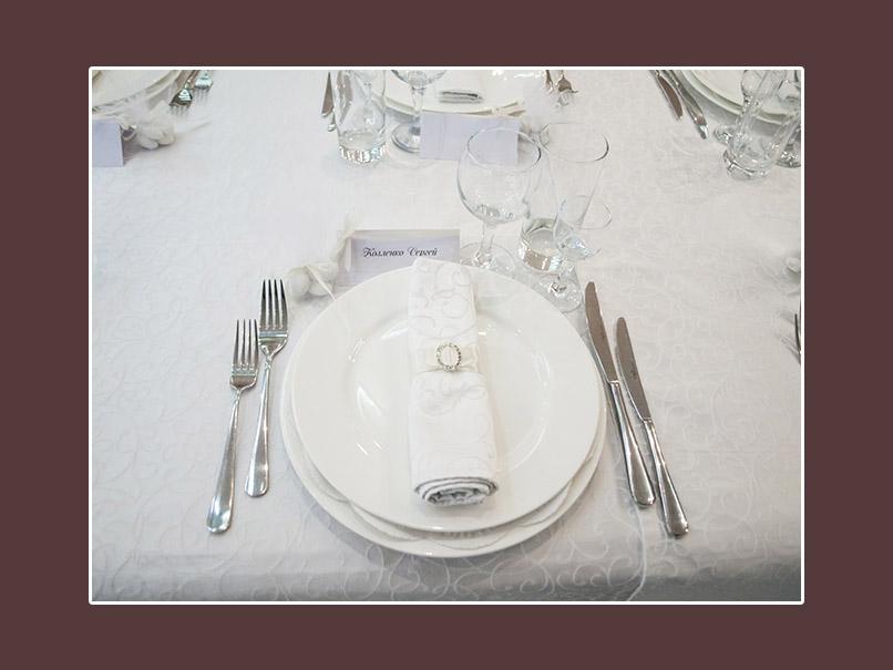 Hochzeitsservietten klassisch