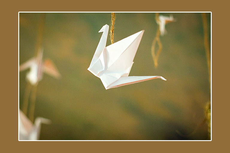 Papiervogel Origami