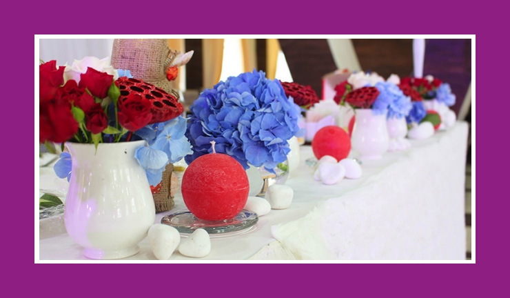 Tischdeko Hochzeit  Tischdeko Hochzeit Rot