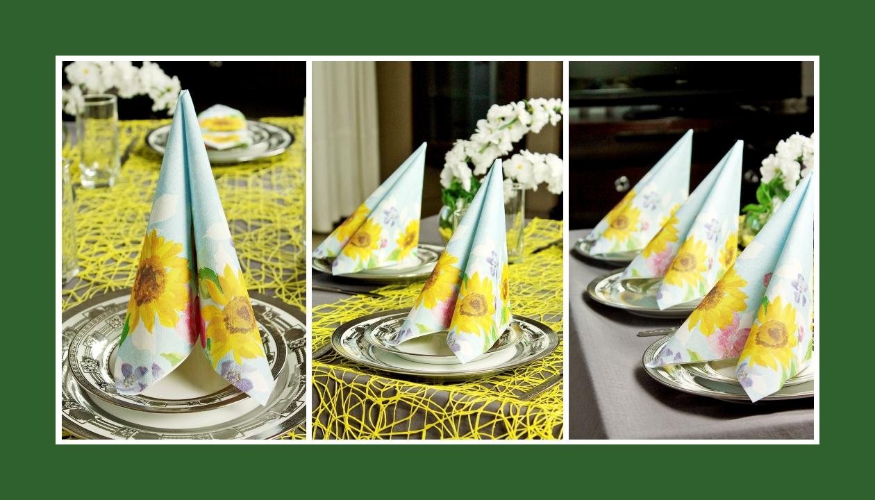 Deko Idee Hochzeit in Gelb Servietten