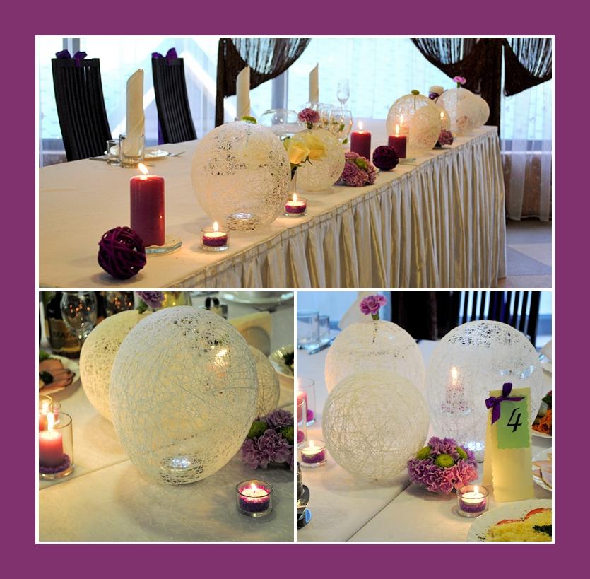 Geburtstagsdeko, Hochzeitsdeko in Lila