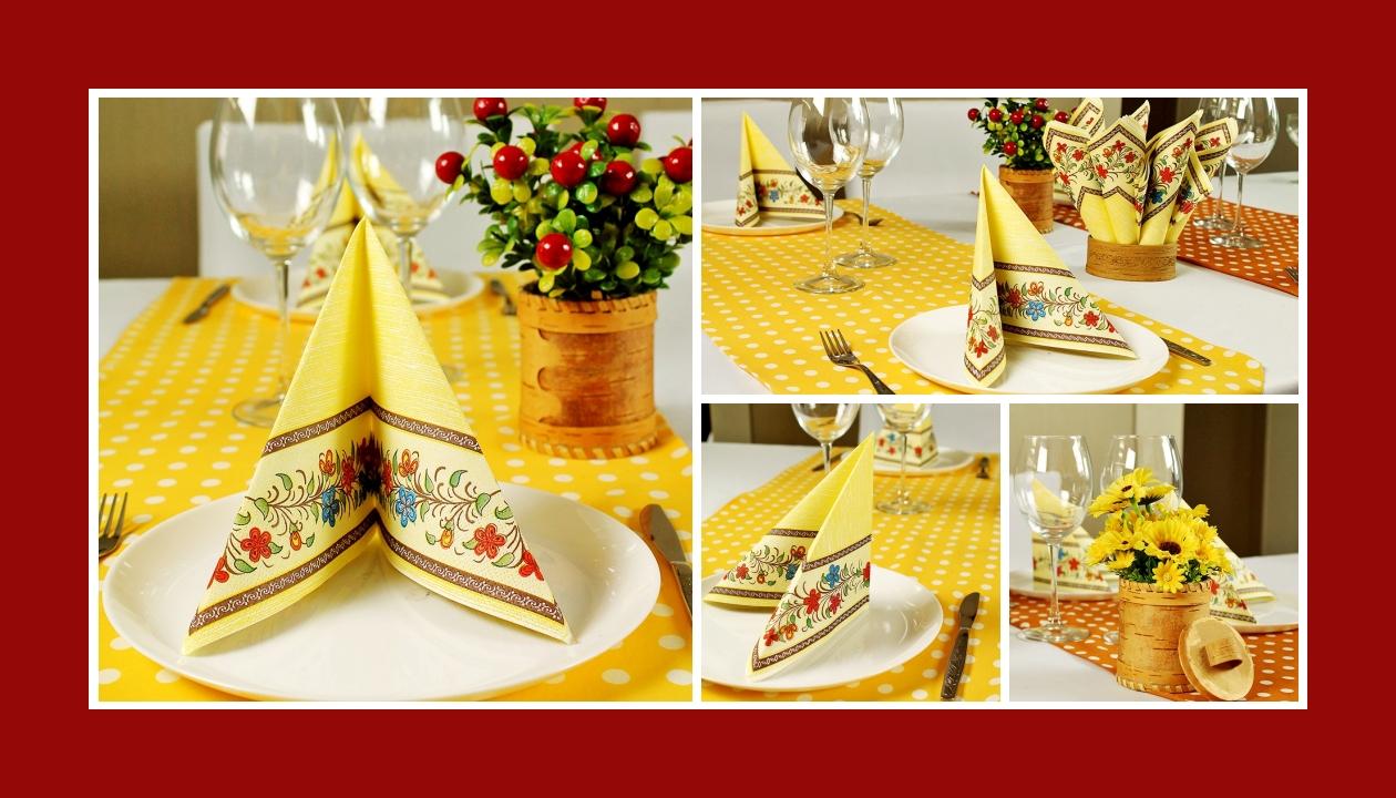 Deko Idee Hochzeit mit ländlichen Motiven Rot Gelb