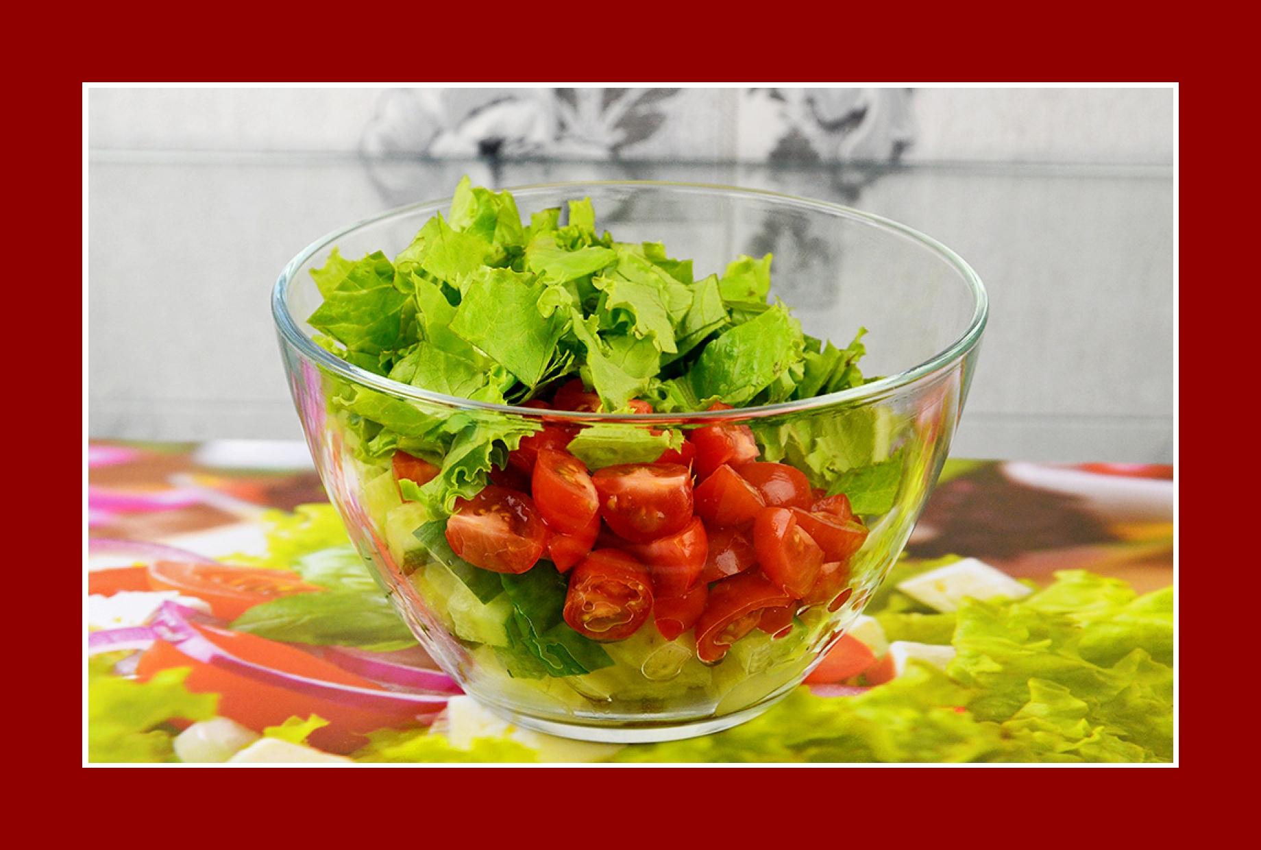 Rezept Kartoffelsalat Tomaten Gurken Salat Eisbergsalat